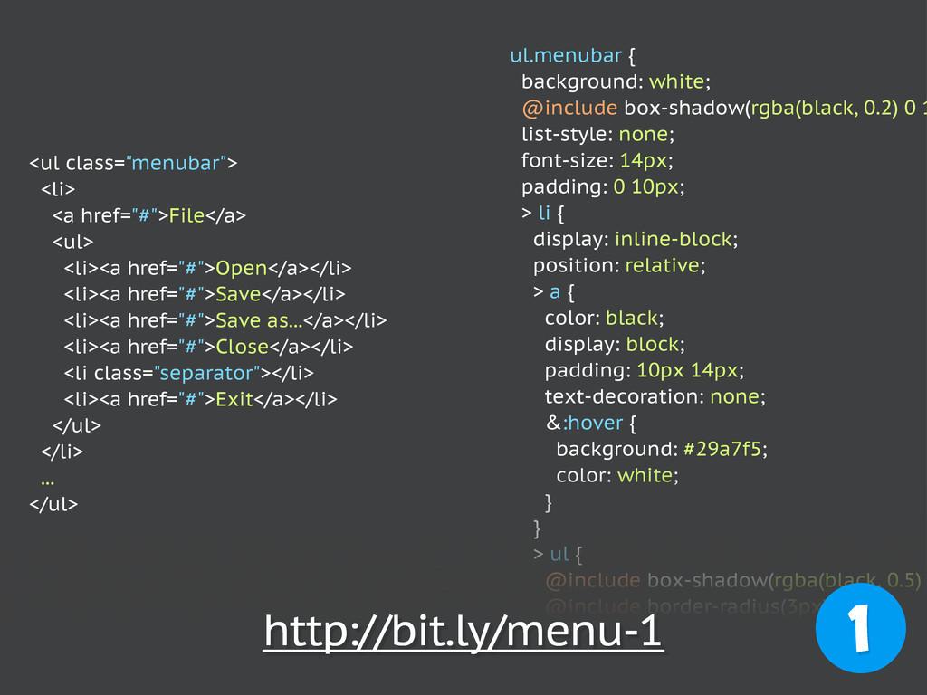 ul.menubar { background: white; @include box-sh...