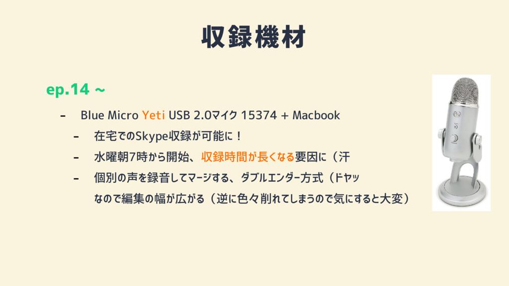 収録機材 ep.14 ~ - Blue Micro Yeti USB 2.0マイク 15374...