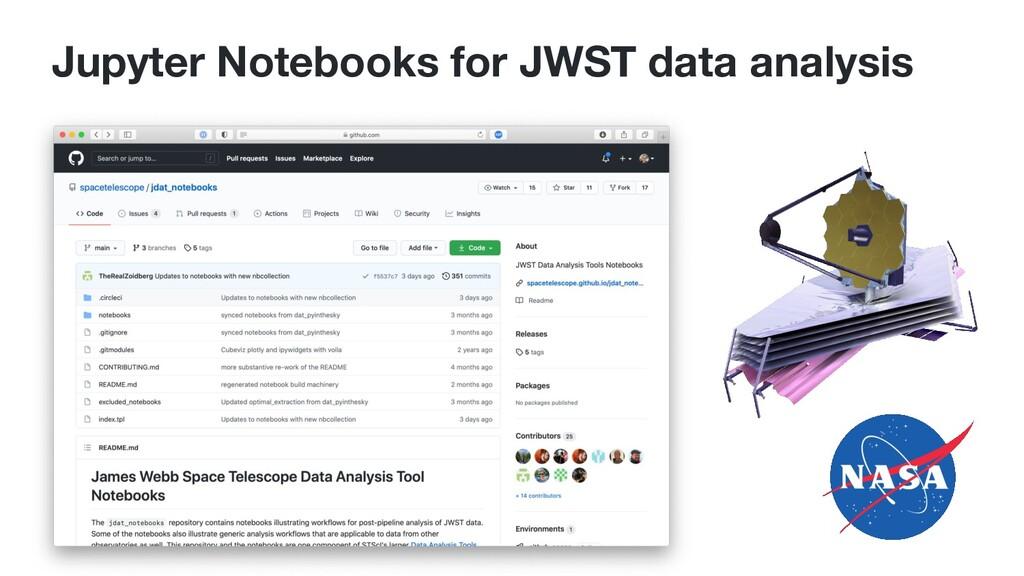Jupyter Notebooks for JWST data analysis