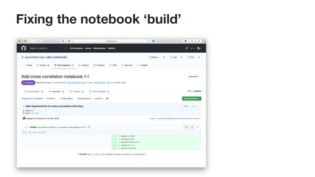 Fixing the notebook 'build'