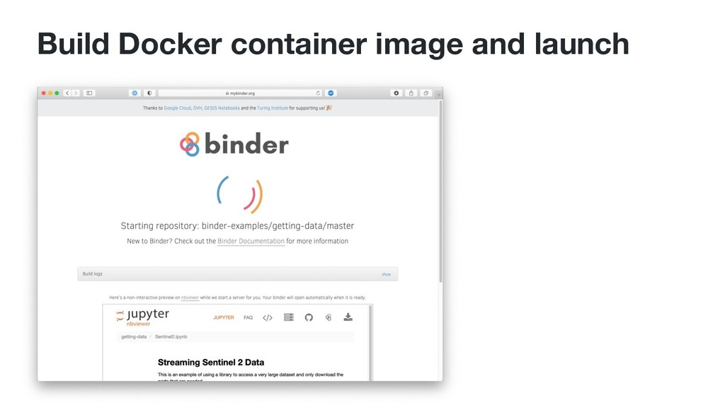 Build Docker container image and launch