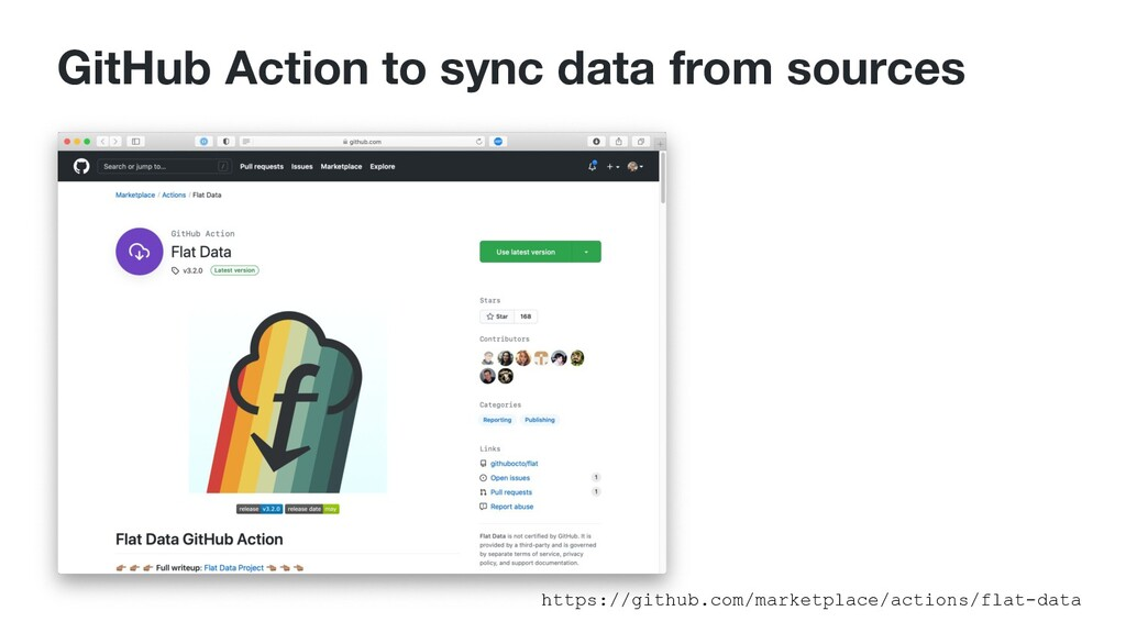 GitHub Action to sync data from sources https:/...