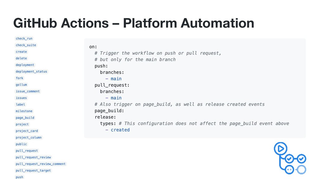 GitHub Actions – Platform Automation