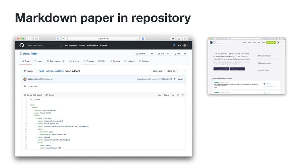 Markdown paper in repository