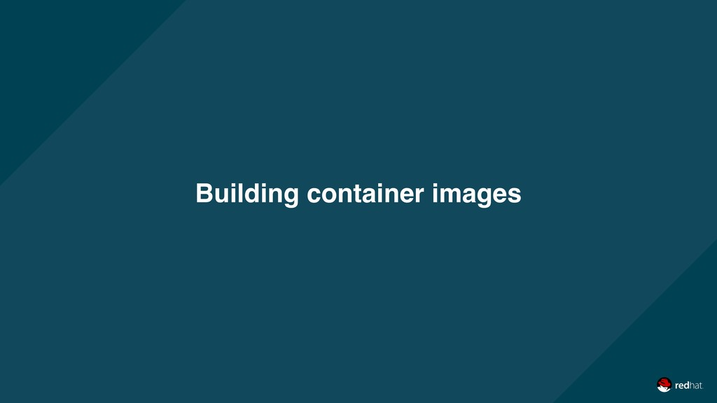 Building container images