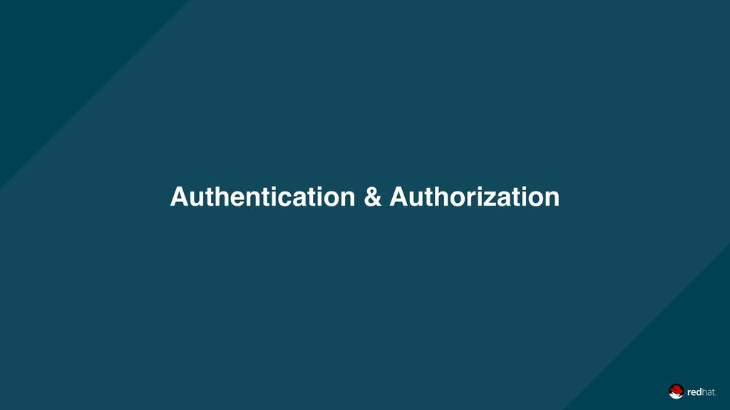 Authentication & Authorization