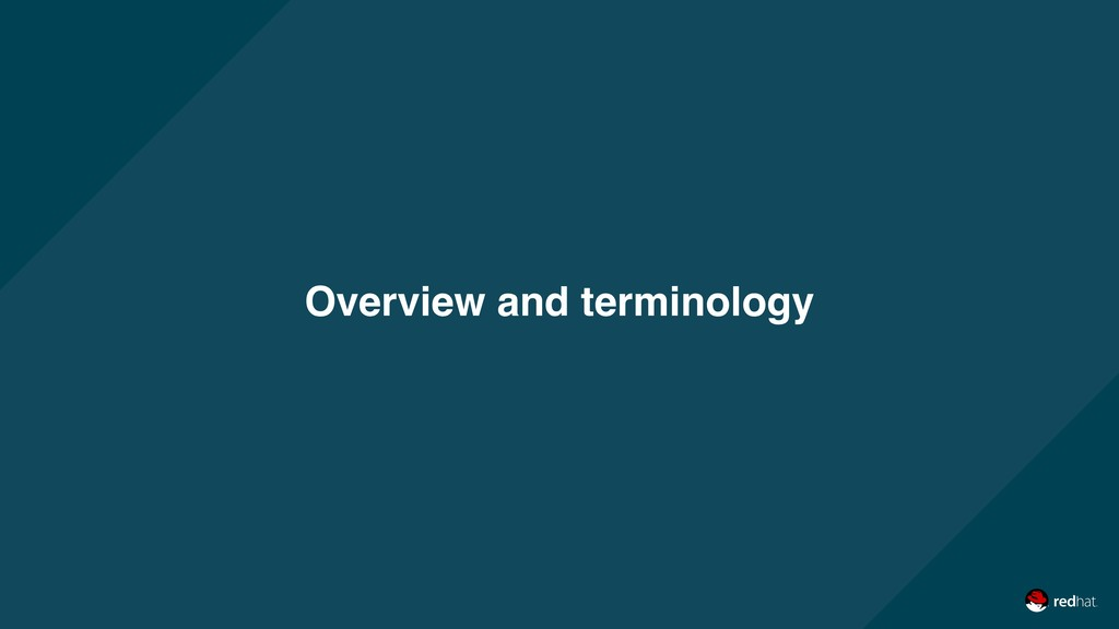 Overview and terminology
