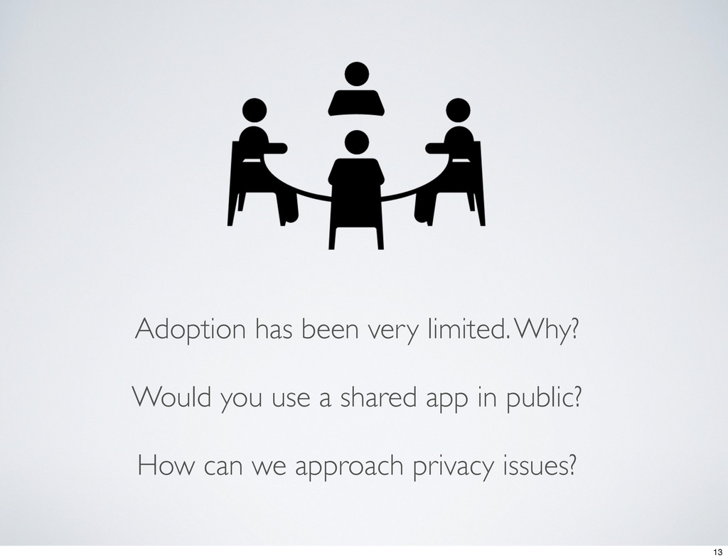 Adoption has been very limited. Why? Would you ...
