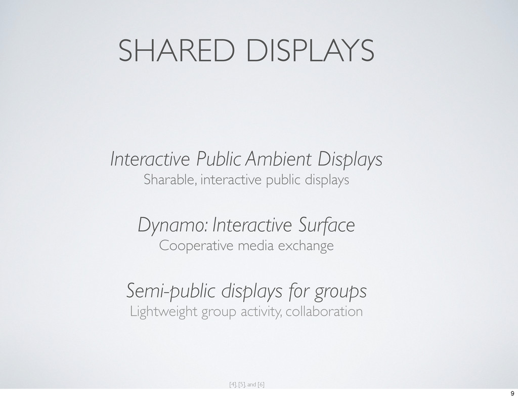 SHARED DISPLAYS Interactive Public Ambient Disp...