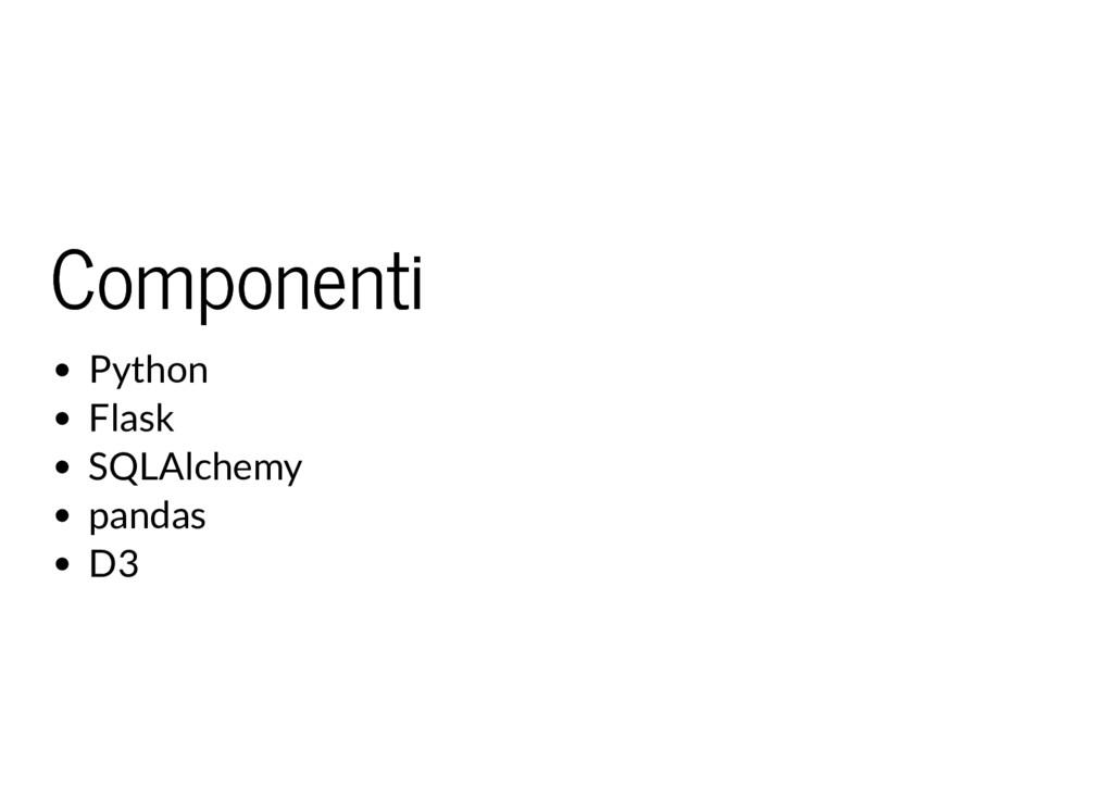 Componenti Componenti Python Flask SQLAlchemy p...