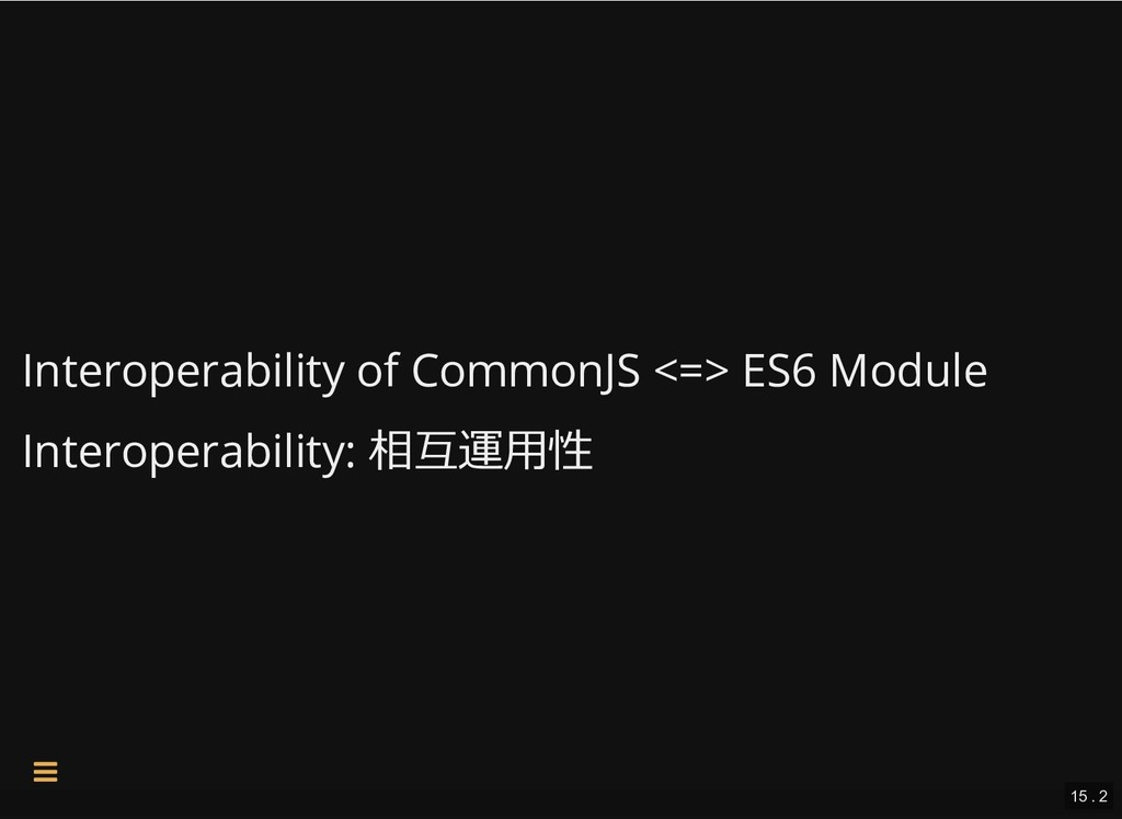 Interoperability of CommonJS <=> ES6 Module Int...