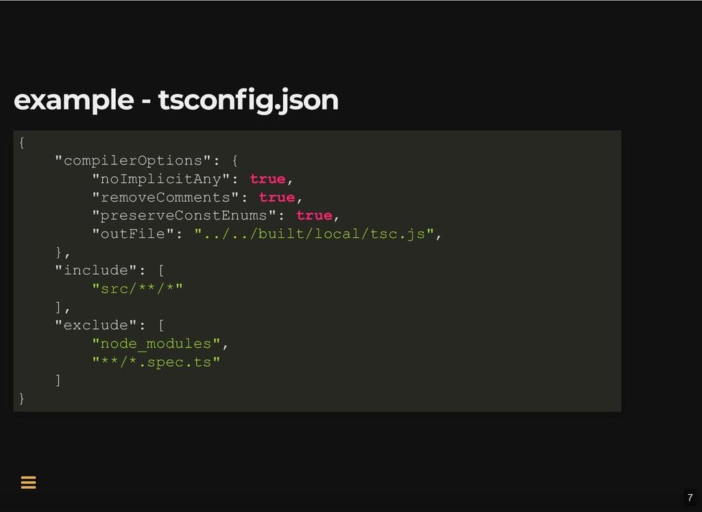 example - tsconfig.json example - tsconfig.json...
