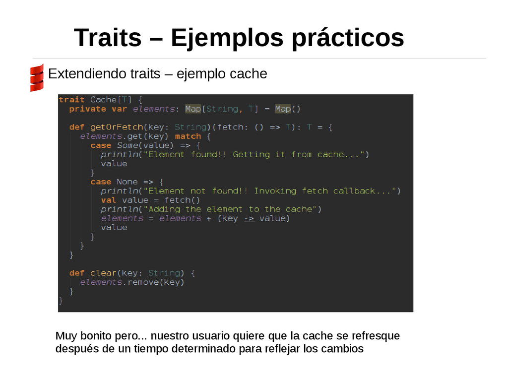 Traits – Ejemplos prácticos Extendiendo traits ...