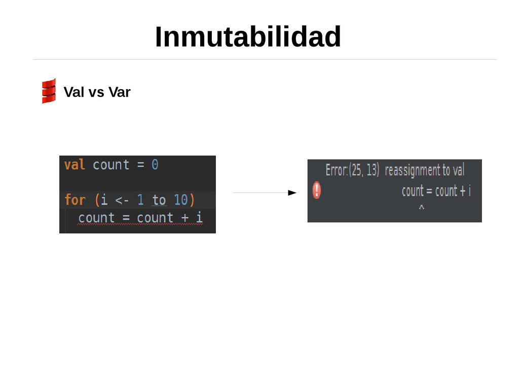 Inmutabilidad Val vs Var