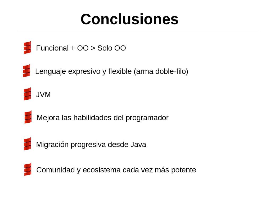 Conclusiones Funcional + OO > Solo OO Lenguaje ...