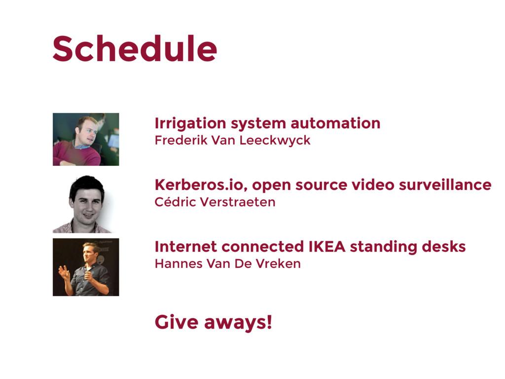 Schedule Irrigation system automation Frederik ...