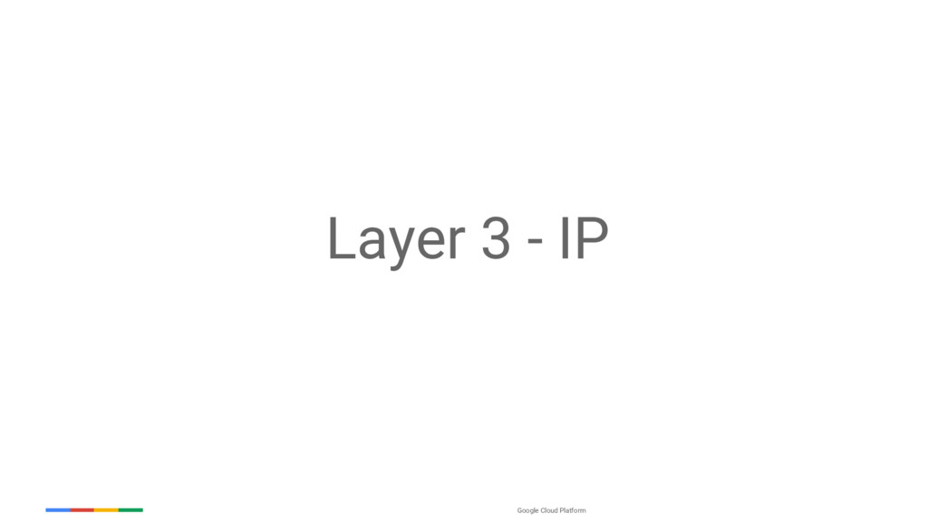 Google Cloud Platform Layer 3 - IP