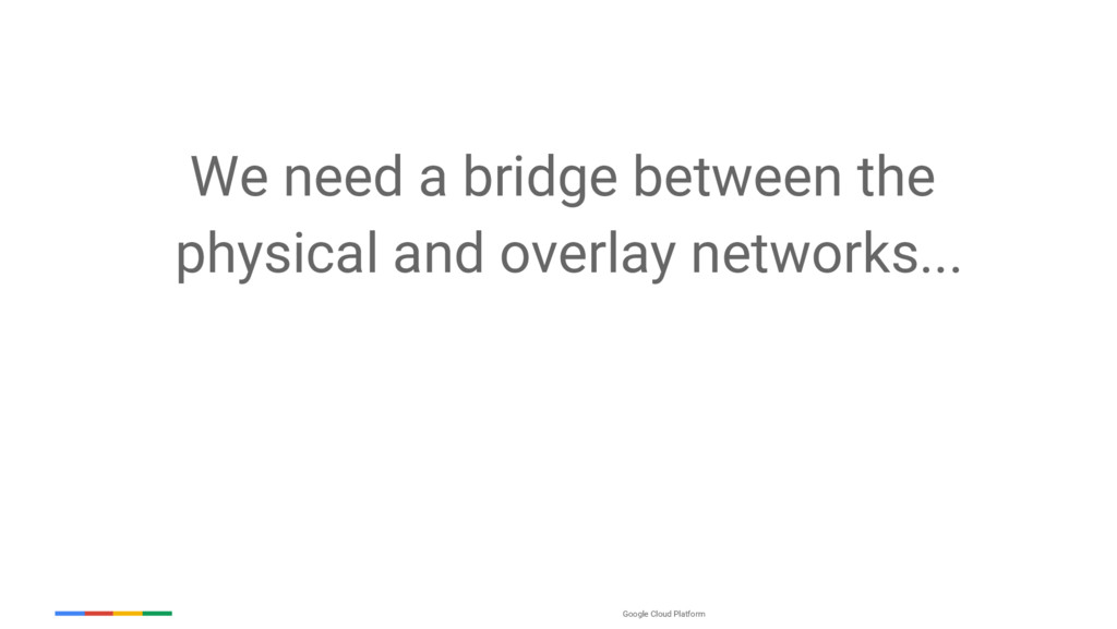 Google Cloud Platform We need a bridge between ...