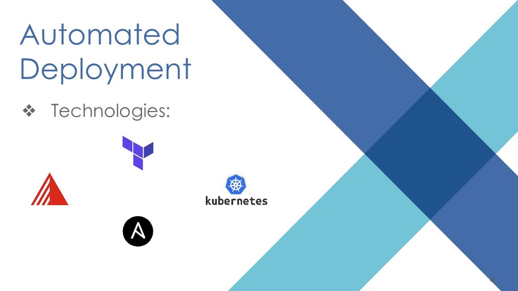 4 Automated Deployment ❖ Technologies: