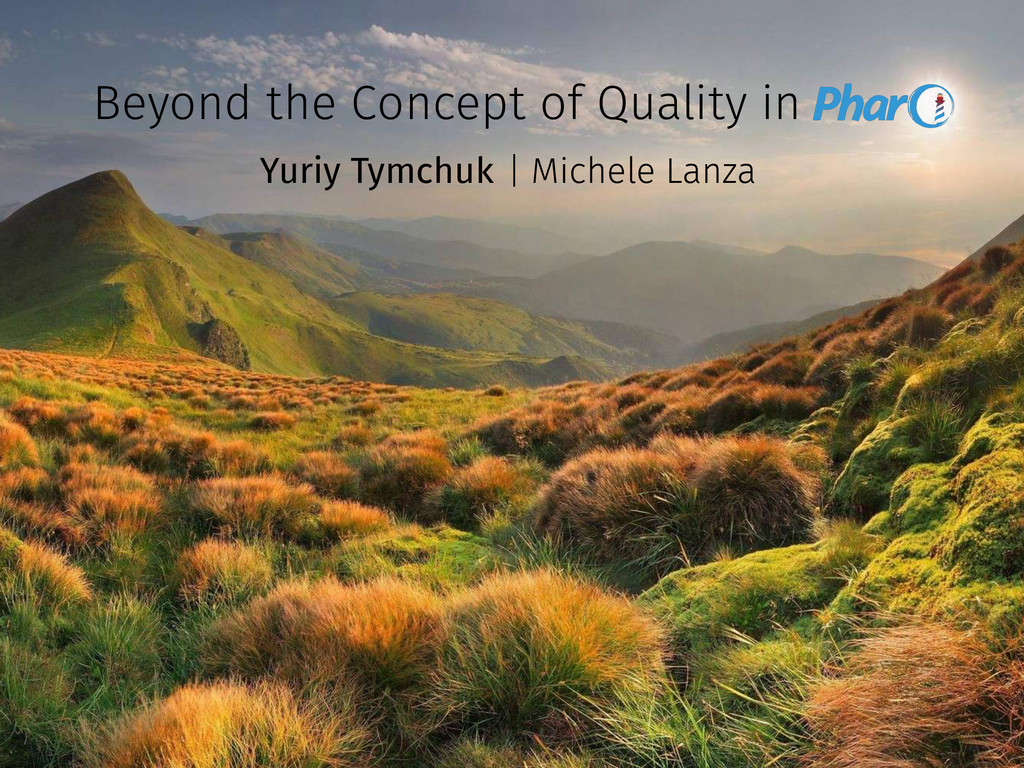 Beyond the Concept of Quality in Yuriy Tymchuk ...