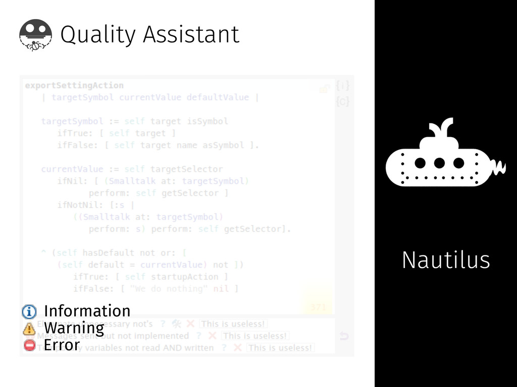 Quality Assistant Nautilus Information Warning ...