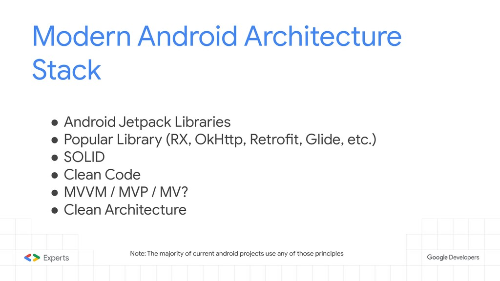 Modern Android Architecture Stack ● Android Jet...
