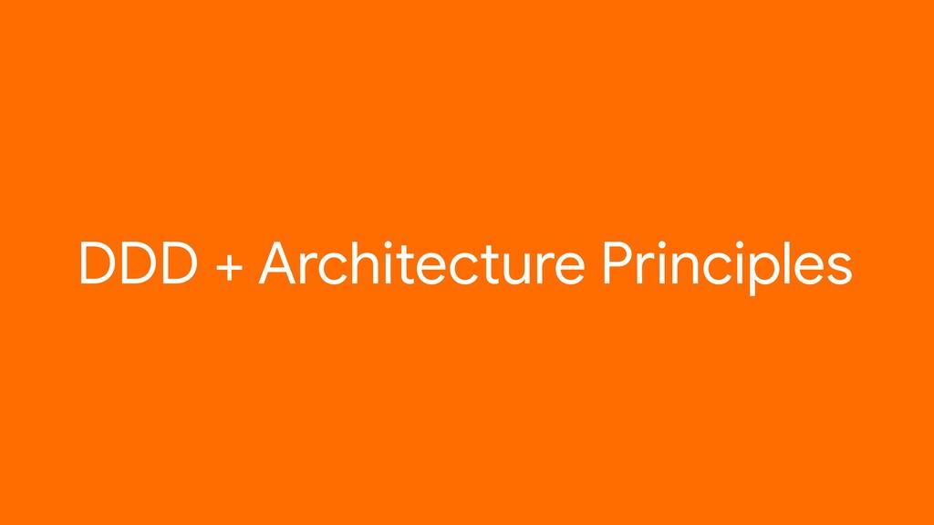 DDD + Architecture Principles