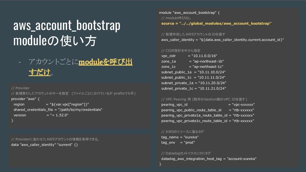 aws_account_bootstrap moduleの使い方 - アカウントごとに mod...