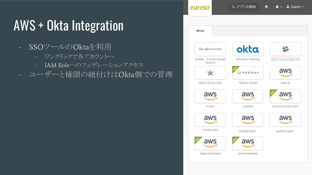 AWS + Okta Integration - SSO ツールの Okta を利用 - ワン...