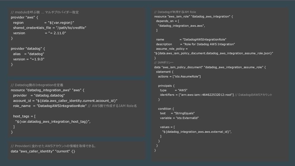 例1. Fastly + BigQuery - コード例を乗せる // Datadogが利用す...