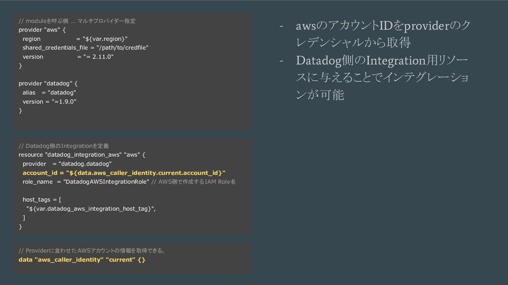 例1. Fastly + BigQuery - コード例を乗せる // Datadog側のIn...