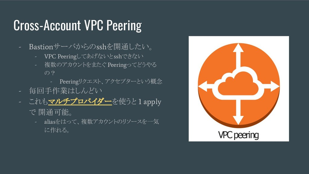 Cross-Account VPC Peering - Bastion サーバからの ssh ...