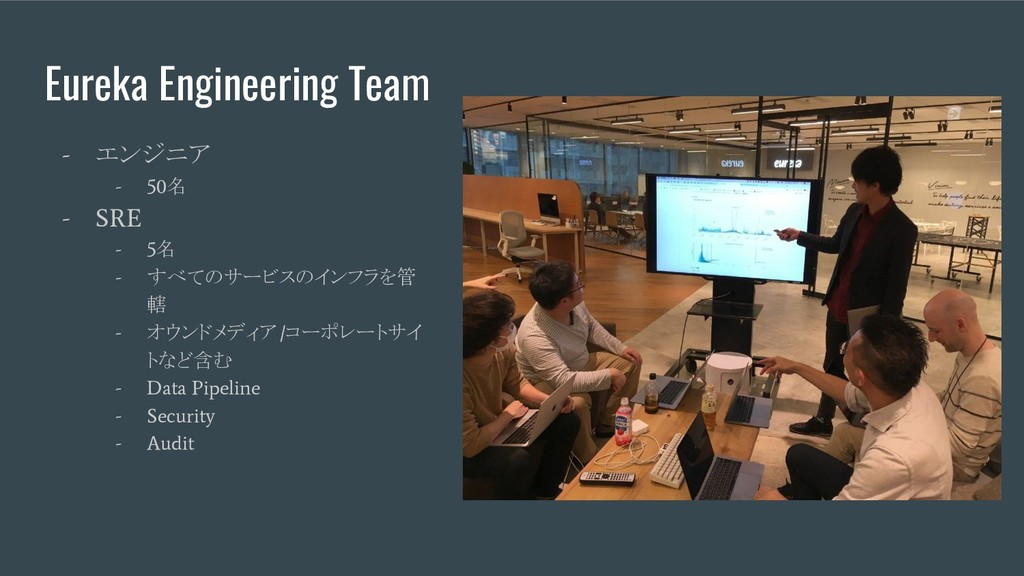 Eureka Engineering Team - エンジニア - 50 名 - SRE - ...