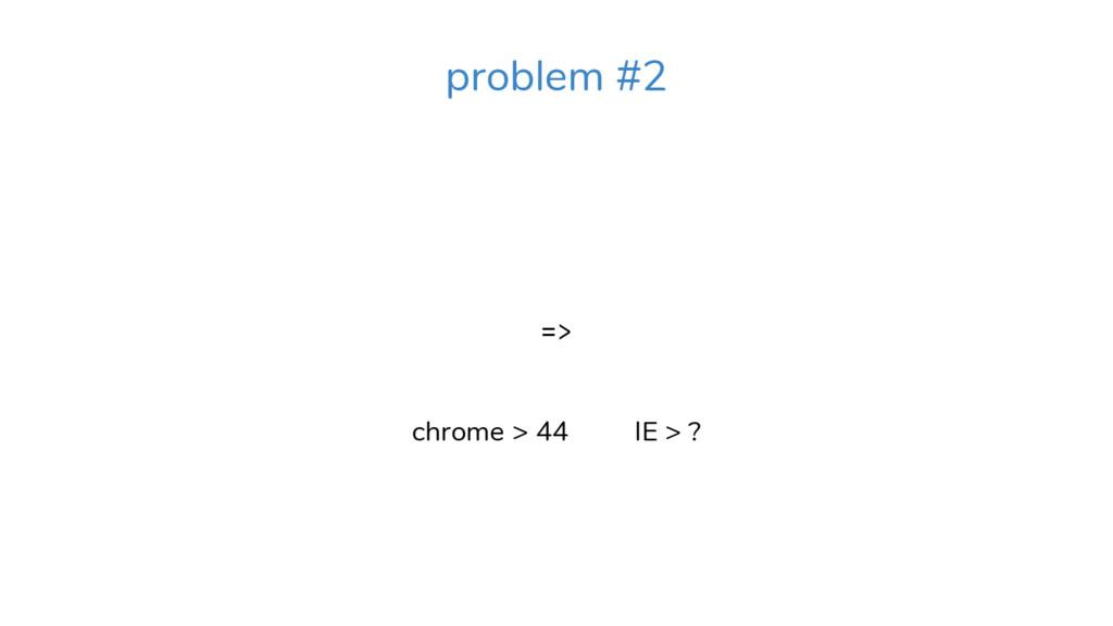 => chrome > 44 IE > ? problem #2