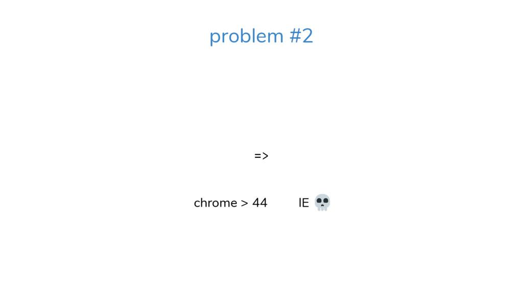 => chrome > 44 IE . problem #2