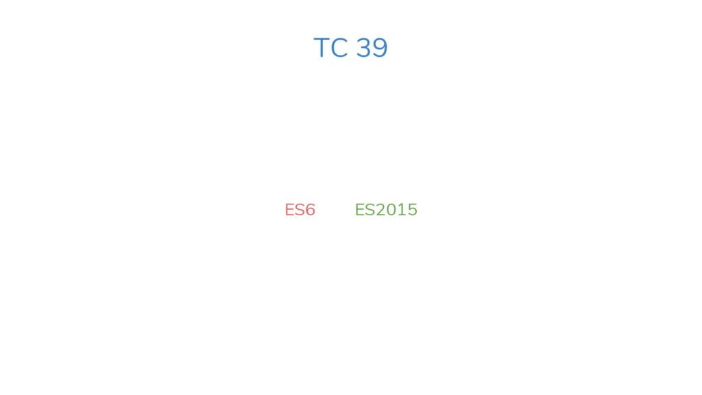 ES6 ES2015 TC 39