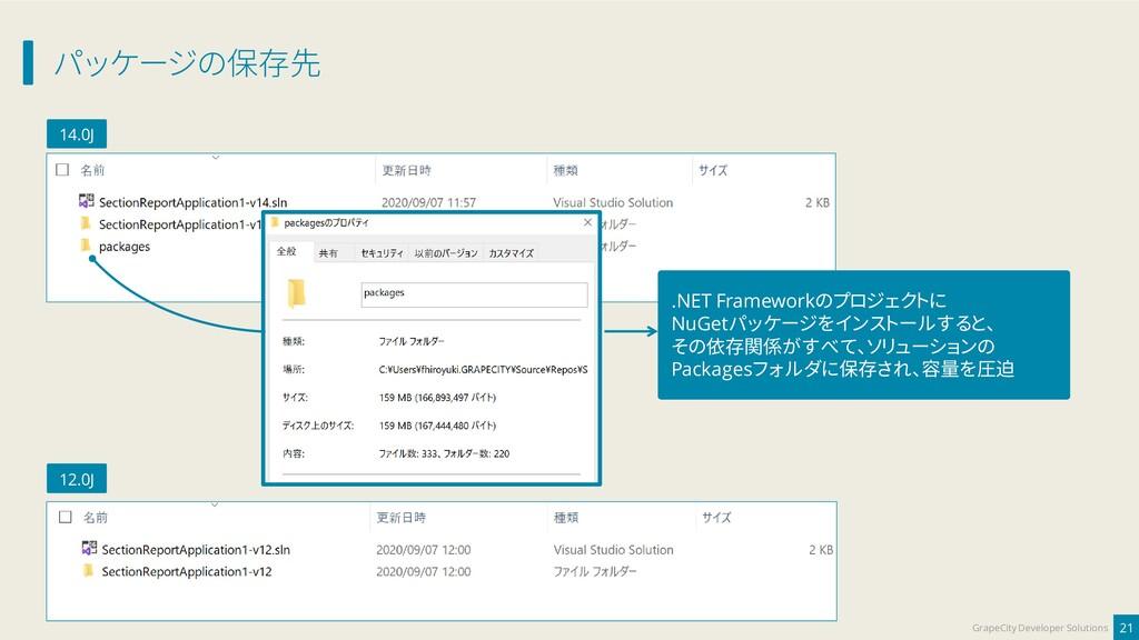パッケージの保存先 21 GrapeCity Developer Solutions 14.0...