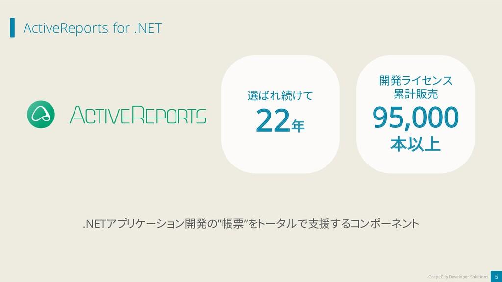ActiveReports for .NET 5 GrapeCity Developer So...