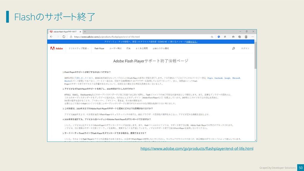 Flashのサポート終了 50 GrapeCity Developer Solutions h...