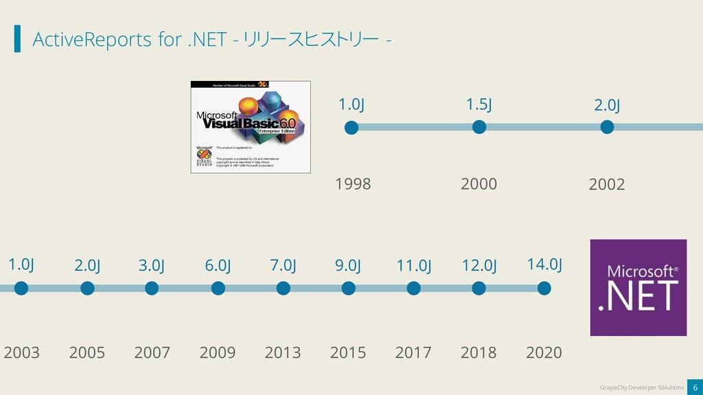 ActiveReports for .NET - リリースヒストリー - 6 GrapeCit...