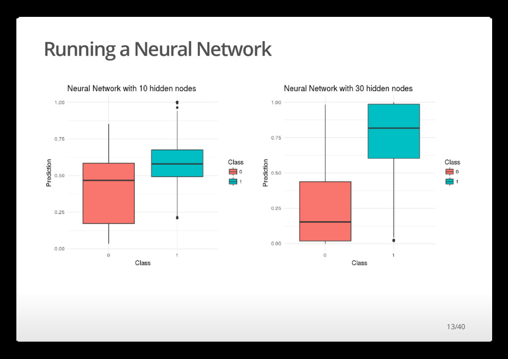 Running a Neural Network 13/40