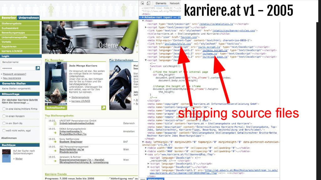 karriere.at v1 - 2005 shipping source files