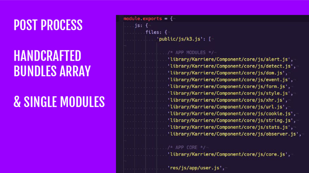 POST PROCESS HANDCRAFTED BUNDLES ARRAY & SINGLE...