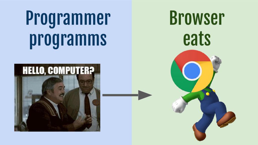 Browser eats Programmer programms