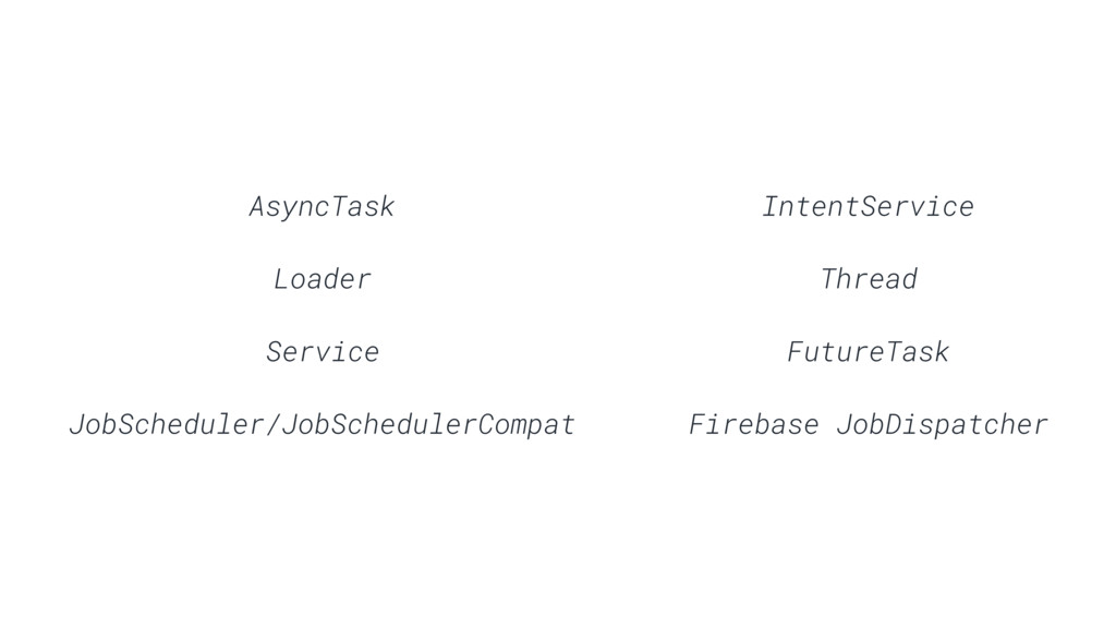 AsyncTask Loader Service JobScheduler/JobSchedu...