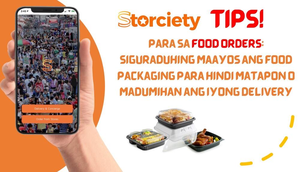TIPS! PARA SA FOOD ORDERS: SIGURADUHING MAAYOS ...