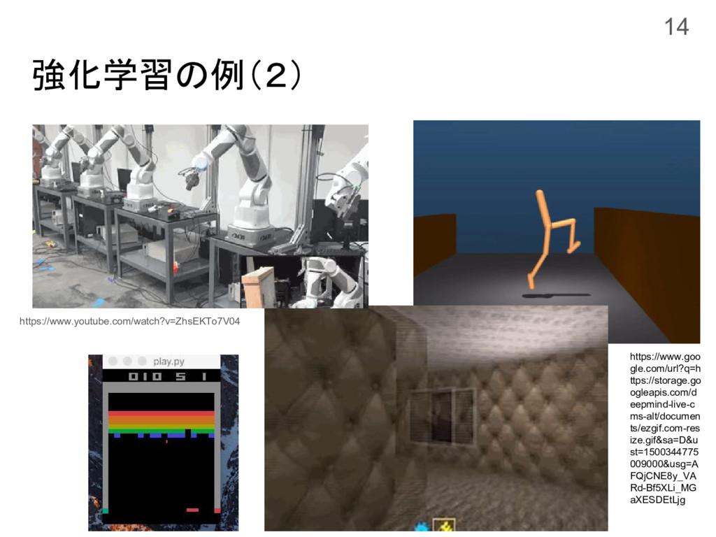 強化学習の例(2) 14 https://www.goo gle.com/url?q=h tt...
