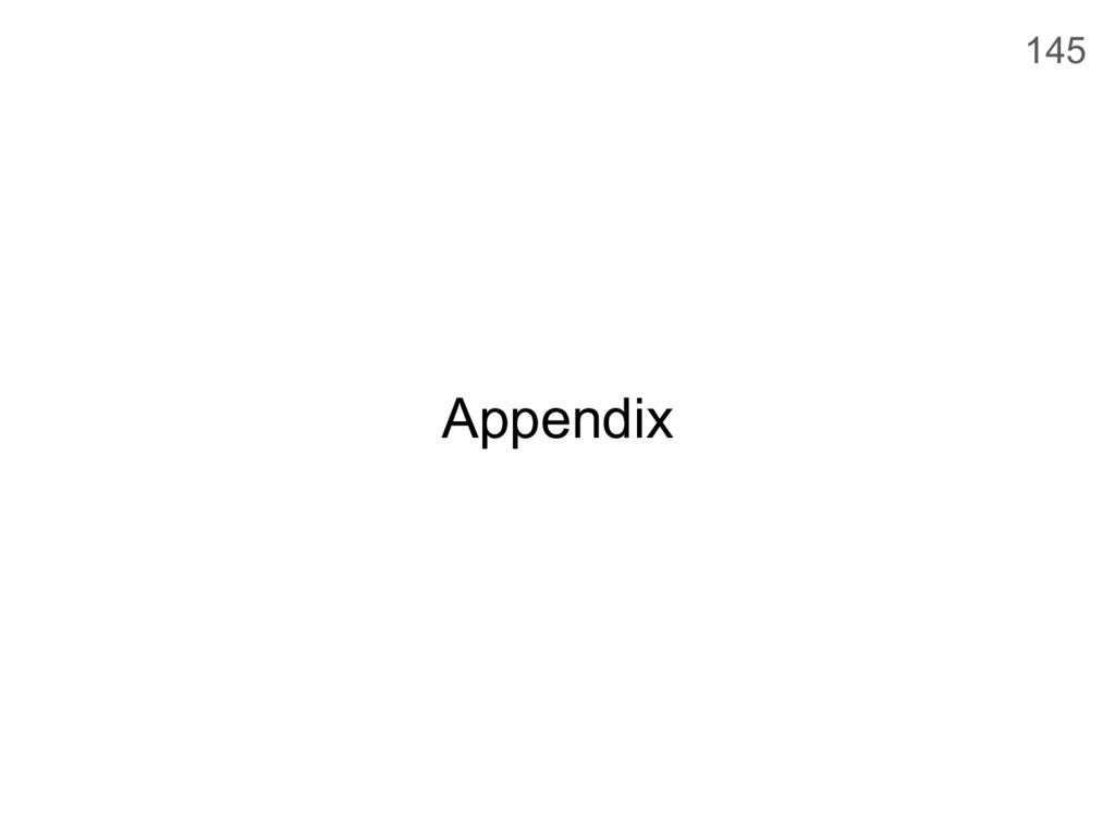 Appendix 145