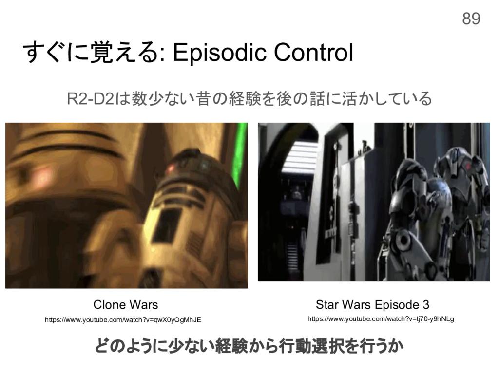すぐに覚える: Episodic Control R2-D2は数少ない昔の経験を後の話に活かし...