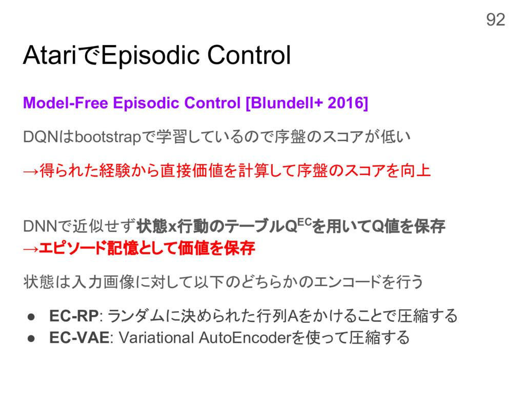 AtariでEpisodic Control Model-Free Episodic Cont...